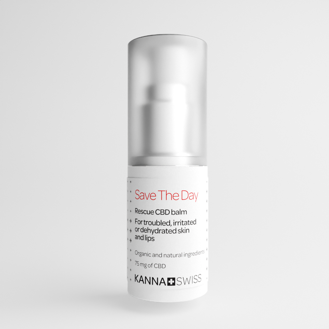 Save The Day Rescue CBD balm for troubled, irritated or dehydrated skin and lips